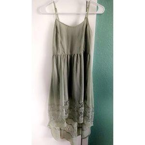 Thin light Green Lacey dress